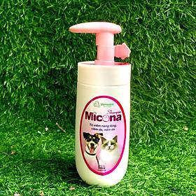 MICONA SHAMPOO - Sữa Tắm Phòng Trị Viêm Da, Nấm Da, Viêm Nang Lông Cho Chó Mèo Với An Toàn Và Hiệu Quả - Hương Thơm Dịu Ngọt, Khử Mùi Hôi Lông, Dưỡng, Làm Mượt Lông – Mi01