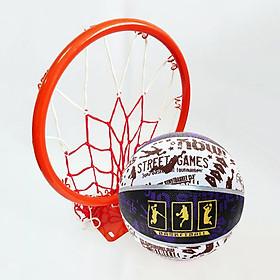 Bộ vành rổ bóng rổ - Tặng kèm bóng rổ, lưới rổ