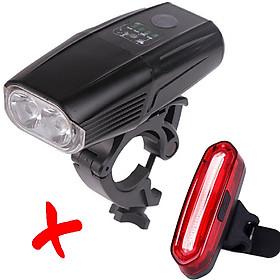 COMBO Đèn LED 2 Pha Xe Đạp Siêu Sáng 5503  Và Đèn Cọc Yên Xe Đạp AQY096