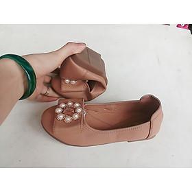 giày búp bê trẻ em nơ ngọc