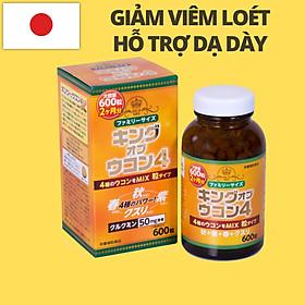 Viên uống chiết xuất nghệ Nhật Bản King Ukon - lọ 600 viên. Thực phẩm chức năng hỗ trợ bệnh lý tiêu hóa, cải thiện chức năng gan