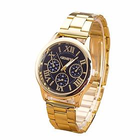 Hình đại diện sản phẩm Clock Geneva Ladies Watch Roman Numerals Quartz Stainless Steel Wrist Men Watch Casual Women Watches Women