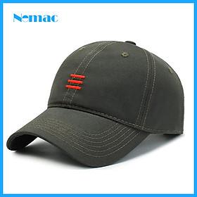 Nón kết/ mũ lưỡi trai kaki 100% cotton Unisex Nomac thêu nổi hot trend NON0609
