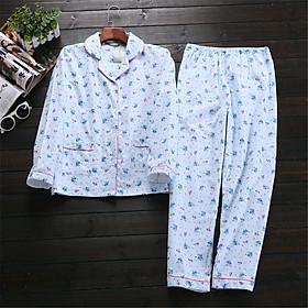 Hình đại diện sản phẩm Bộ Đồ Ngủ Cotton Cho Phái Nữ BY52 Màu Xanh