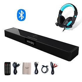 Loa Thanh Soundbar Bluetooth Để Bàn Dùng Cho Tivi Máy Vi Tính PC Laptop BS-39B Hỗ Trợ Sạc Không Dây - Loa Công Suất Lớn Tặng Tai Nghe Chụp Tai CT770 ( Giao màu ngẫy nhiên )