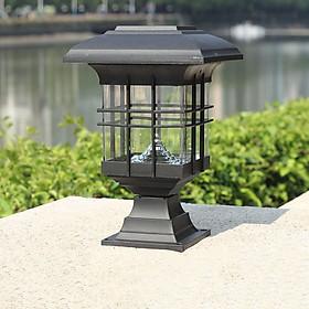 Đèn Led sân vườn năng lượng mặt trời trang trí hiện đại (Bao gồm cột cắm đất và đế bắt cột).