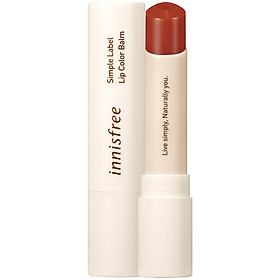 Son Dưỡng Môi Có Màu Innisfree Simple Label Lip Color Balm #3 3.2g - 131171751