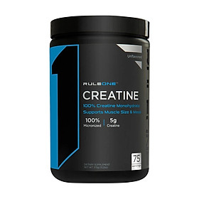 Thực phẩm bổ sung Creatine không mùi Rule 1 Creatine Unflavored 75 servings - 375g