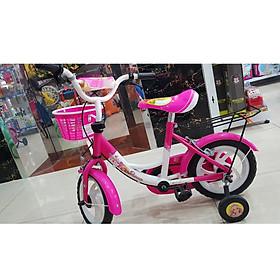 Xe đạp trẻ em in hình búp bê màu hồng
