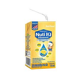 Thùng Sữa Bột Pha Sẵn NUTI DIAMOND IQ 110ml - Dành cho trẻ từ 1 tuổi trở lên (48 Hộp x 110ml)