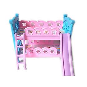 bộ giường tầng cho búp bê màu hồng