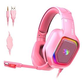 Tai nghe gaming chụp tai (Headphone Gaming) cho game thủ cao cấp A30 phiên bản màu hồng version 7.1 có mic - Hàng nhập khẩu