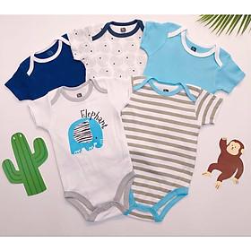 Quần áo mùa hè cho bé sơ sinh, set 5 body chip cho bé