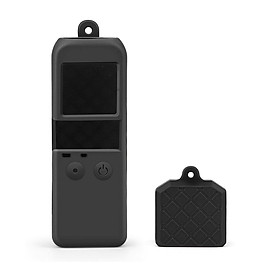 Soft Silicone Protective Body Case Holder Protector Shell with Protection Cover Cap Wrist Lanyard for DJI Osmo Pocket