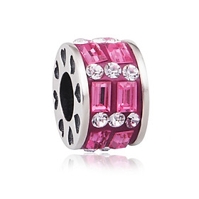 Hình đại diện sản phẩm Hạt charm DIY PNJSilver hình tròn dẹt to màu hồng 14027.000-BO