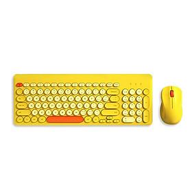 Bộ bàn phím tròn và chuột không dây BOW K221 2.4G Set 96 Key - xanh lá
