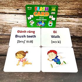 Thẻ Flash Card Glenn Doman Chủ Đề Hành Động, Flashcard Học Tập Cho Bé