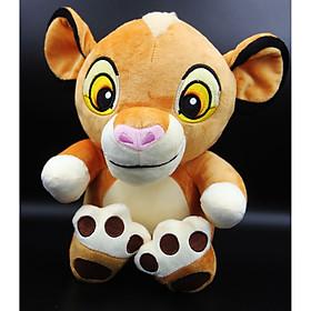 Thú Nhồi Bông/ Gấu Bông Sư Tử Con Simba 26 cm (Tặng kèm móc khóa da bò thật màu ngẫu nhiên) BA00178