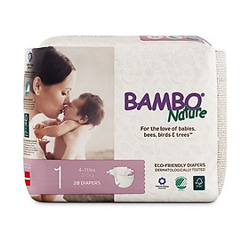 Tã Dán Em Bé Hữu Cơ Bambo Nature - gốc Đan Mạch - 2-5kg - NB28 - 28 miếng