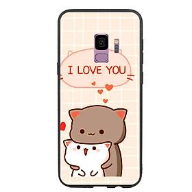 Ốp lưng viền TPU cho điện thoại Samsung Galaxy S9 - I Love U