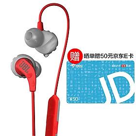 JBL Endurance Run BT Wireless Bluetooth Sports Headphones In-Ear Bluetooth Running Headphones Magnetic Waterproof Ear Plugs Vibrant Red