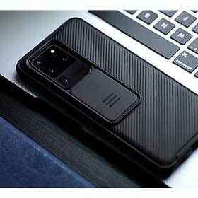 Ốp lưng chống sốc bảo vệ Camera cho SamSung Galaxy S20 Ultra hiệu Nillkin Camshield (chống sốc cực tốt, chất liệu cao cấp, có khung & nắp đậy bảo vệ Camera) - Hàng chính hãng
