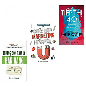 Combo những đòn tâm lý trong bán hàng+chiến lược marketing hoàn hảo+tiếp thị 4.0(bản đặc biệt tặng kèm bookmark AHA)
