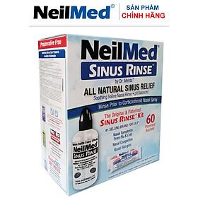 Bình (Bộ Dụng Cụ) Rửa Mũi Xoang Người Lớn NeilMed Sinus Rinse Kit 60 Sachets- xuất xứ Mỹ  (1 bình + 60 gói muối)
