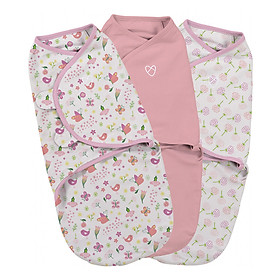 Bộ 3 Chăn Quấn Secret Garden  Girl Summer Infant (Original Swaddle - Secret Garden Girl- Small - 3Pk Bag)