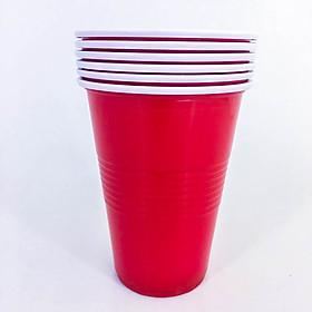 Bộ ly nhựa màu đỏ