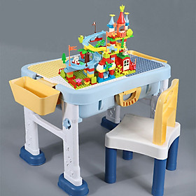 Bàn học và bàn chơi lego đa chức năng 8 trong 1 Bằng nhựa ABS an toàn  Lego Style