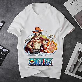 Áo thun Nam Nữ Không cổ ONEPIECE ACE MSOP-08 mẫu mới cực đẹp, có size bé cho trẻ em / áo thun Anime Manga Unisex Nam Nữ, áo phông thiết kế cổ tròn basic cộc tay thoáng mát