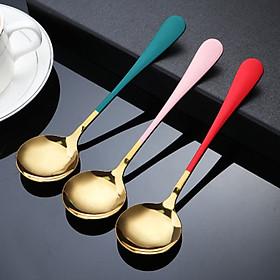 Thìa inox mạ vàng long lanh sử dụng công nghệ hiện đại Nhật Bản,hàng loại 1 đảm bảo an toàn cho người dùng được người dùng tin cậy đánh giá cao về sản phẩm(giao màu ngẫu nhiên)Gelife SRV01050