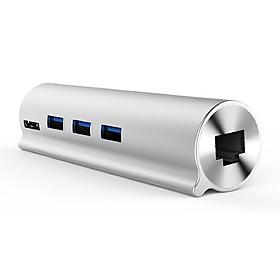 Hub USB 3.0 3 Ports + LAN Unitek (Y-3095)+Type-C  - HÀNG CHÍNH HÃNG