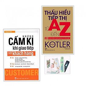 Sách Combo Những Cấm Kị Khi Giao Tiếp Với Khách Hàng- Thấu Hiểu Tiếp Thị Từ A Đến Z ( Kèm Bookmark PD)