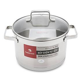 Nồi inox cao cấp 3 đáy nắp kiếng Happy Cook Richard Plus N20-RSP (20cm)