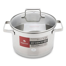 Nồi inox cao cấp 3 đáy nắp kiếng Happy Cook Richard Plus N24-RSP (24cm)