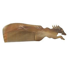 Lược Sừng Bò Châu Phi Cao Cấp L50 Con Ngựa (Dài 18 x 5,2cm)