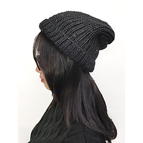 Nón len nữ, nón len trùm đầu H01