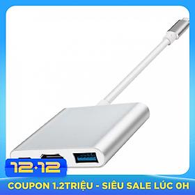 Hub chuyển đổi USB Type-C Sang USB 3.0/HDMI-Type C (Bạc)