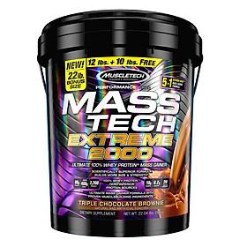 Sữa tăng cân tăng cơ MASS TECH EXTREME 2000 của MuscleTech hương Chocolate thùng lớn 10 kg hỗ trợ tăng cân tăng cơ nhanh cho người gầy kén ăn, khó hấp thu, khó tăng cân
