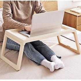 Bàn học laptop gấp gọn làm bằng nhựa cao cấp dùng cho sinh viên học sinh D901