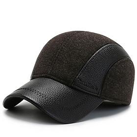Mũ lưỡi trai/ Nón kết mùa đông line da Guanyoufu che tai độn bông cực ấm – Mũ tặng bố, tặng ông