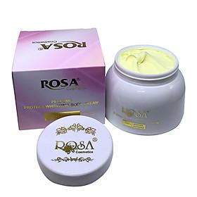Kem mềm trắng da toàn thân hương nước hoa Rosa - Perfume Protect Whitening Body Cream 250gr (kem trang điểm body, bật tông trắng sáng sau 7 ngày sử dụng)