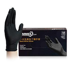 Găng tay cao su đen dùng 1 lần chuyên nghiệp cho Salon ( Hộp 100 cái)
