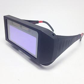 Combo Kính hàn điện tử tự động cảm biến ánh sáng KH01 + Tặng tấm mica chắn xỉ hàn + dây đeo