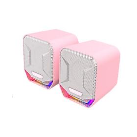 Loa vi tính Gaming Fantech GS202 SONAR màu hồng, có ánh sáng LED siêu gọn nhẹ dùng cho máy tính, laptop, điện thoại  - Hàng chính hãng