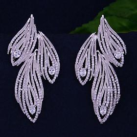 Bông tai nữ - Luxury - 3 cánh lá mạ vàng 18k