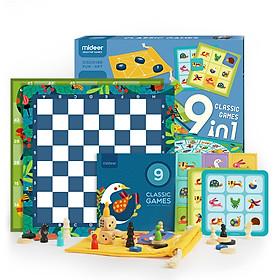 Đồ chơi Classic Games 9 in 1 Mideer chính hãng - Đồ chơi trí tuệ cho bé