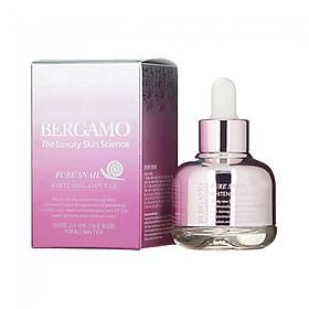 Serum dưỡng ẩm và làm trắng Bergamo Pure Snail Whitening Ampoule 30ml-0